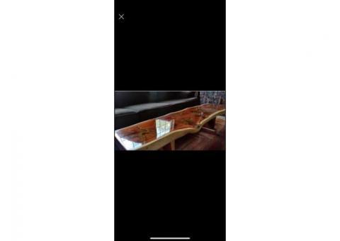 Hand made red cedar coffee table