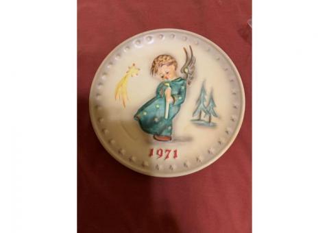 Antique Hummel Christmas Plates